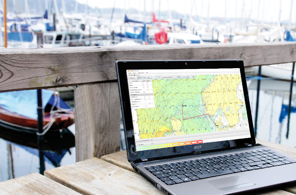 Software SEAMAN PRO - Kinderleicht zur Wetter Navigation Notebook am Steg